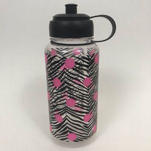 Victoria's Secret PINK Water Bottle Zebra Print